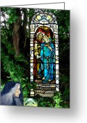 Jeshua Greeting Cards - Divine Union Greeting Card by Deane GeMMell