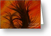 Chromatic Painting Greeting Cards - Divinity. Greeting Card by Wayde Gordon