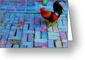 Poultry Photo Greeting Cards - Dixie Chicken Greeting Card by Debbi Granruth
