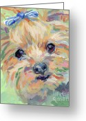 Terrier Greeting Cards - Dixie Greeting Card by Kimberly Santini