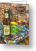 Beer Greeting Cards - Dixie Love Greeting Card by Dianne Parks