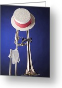 Mac Miller Greeting Cards - Dixieland Hat and Trombone Greeting Card by M K  Miller
