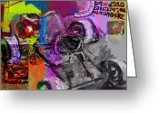 Jim Thomas Greeting Cards - DIY GoKart Greeting Card by James Thomas