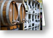 Wine Cellars Greeting Cards - DIY Wine Greeting Card by Heather Applegate