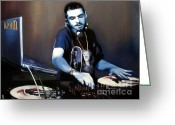 Hip-hop Greeting Cards - Dj Am Greeting Card by Ryan Jones