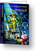 Book Cover Greeting Cards - DJ MacDonald Book Cover Greeting Card by Hanne Lore Koehler