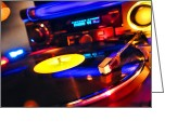 Vinyl Greeting Cards - DJ s Delight Greeting Card by Olivier Le Queinec
