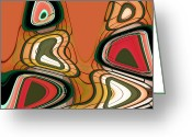 Award Winning Digital Art Greeting Cards - Dlemmas Orange Greeting Card by Monika Wright