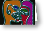 Belfast Mixed Media Greeting Cards - Dna 3 Greeting Card by Patrick J Murphy