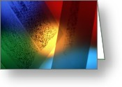Dna Greeting Cards - Dna Fingerprints: Banding On Dna Autoradiograms Greeting Card by Tek Image