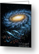 Dna Greeting Cards - DNA Galaxy Greeting Card by Lynette Cook