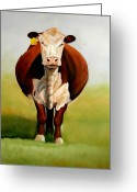 Cattle Greeting Cards - Do I Look Fat Greeting Card by Toni Grote