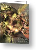 Computerart Greeting Cards - Do not touch - Fractal art Greeting Card by Sipo Liimatainen