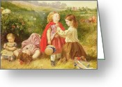 Nice Day Greeting Cards - Do You Like Butter Greeting Card by Myles Birket Foster 