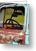 Old Chevrolet Truck Greeting Cards - Do You Need A Ride- Fine Art Greeting Card by KayeCee Spain