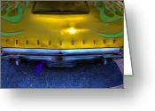 Gold Ford Greeting Cards - Do You Think Its A Thunderbird Greeting Card by Joetta West