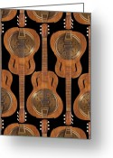 Abstract Fine Art Greeting Cards - Dobro 4 Greeting Card by Mike McGlothlen