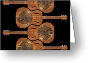Abstract Fine Art Greeting Cards - Dobro 5 Greeting Card by Mike McGlothlen