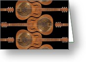 Abstract Fine Art Greeting Cards - Dobro 6 Greeting Card by Mike McGlothlen