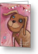 Childsroom Greeting Cards - Doc Rosalie Greeting Card by Sonja Mengkowski