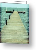 Rough-seas Greeting Cards - Dock Dreams Greeting Card by Ariane Moshayedi