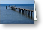 Lyle  Huisken Greeting Cards - Dock Fisherman Greeting Card by Lyle  Huisken