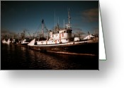 Historic Site Greeting Cards - Docked for the Day Greeting Card by Wenata Babkowski