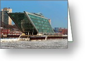 Bauwerk Greeting Cards - Dockland Greeting Card by Bernd Keller