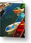 Harbor Living Greeting Cards - Dockside Gridlock Greeting Card by Joann Vitali