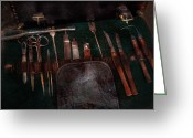Healer Greeting Cards - Doctor - Civil war instruments Greeting Card by Mike Savad