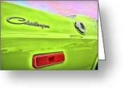 Sick Greeting Cards - Dodge Challenger in Sublime Green Greeting Card by Gordon Dean II