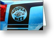 2007 Greeting Cards - Dodge Charge Super Bee logo  Greeting Card by Paul Ward