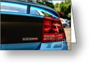 2007 Greeting Cards - Dodge Charger SRT8 rear Greeting Card by Paul Ward