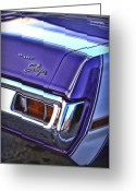 Drag Greeting Cards - Dodge Dart Swinger Greeting Card by Gordon Dean II