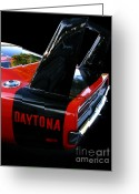Transportation Greeting Cards - Dodge Daytona Fin 02 Greeting Card by Peter Piatt