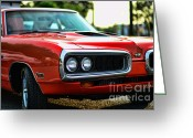 Super Bee Greeting Cards - Dodge Super Bee classic red Greeting Card by Paul Ward