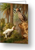 Tropical Island Greeting Cards - Dodo Hide N Seek Greeting Card by Daniel Eskridge