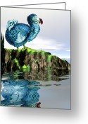 Extinct Greeting Cards - Dodo Greeting Card by Victor Habbick Visions