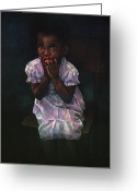Family Pastels Greeting Cards - Does Jesus Love Me Greeting Card by Curtis James