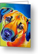 Dawgart Greeting Cards - Dog - Puppy Dog Eyes Greeting Card by Alicia VanNoy Call