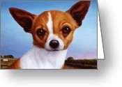 Chihuahua Greeting Cards - Dog-Nature 3 Greeting Card by James W Johnson