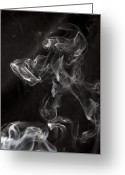 Doggy Greeting Cards - Dog Smoke Greeting Card by Garry Gay