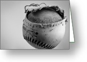 Black And White Photograph Greeting Cards - Dogs Ball Greeting Card by Bob Orsillo