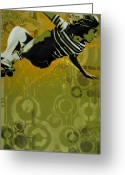 Spraypaint Greeting Cards - Dogtown Greeting Card by Iosua Tai Taeoalii