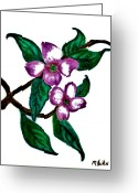 Wall Pastels Greeting Cards - Dogwood Favorite Greeting Card by Marsha Heiken
