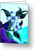 Turquoise Pastels Greeting Cards - Dogwood Purple Greeting Card by Marsha Heiken