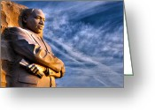 Martin Luther King Greeting Cards - Doing for others Greeting Card by Mitch Cat