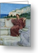 Greek Sculpture Painting Greeting Cards - Dolce Far Niente Greeting Card by Sir Lawrence Alma-Tadema