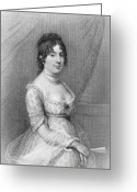 (first Lady) Greeting Cards - Dolley Madison (1768-1849) Greeting Card by Granger