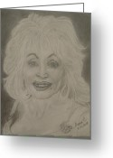 Dolly Parton Greeting Cards - Dolly Parton Greeting Card by Manuela Constantin